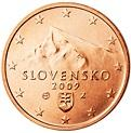 2 cents (other side, country Slovakia) 0.02