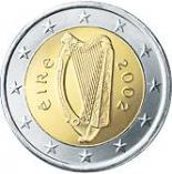 2 euro (other side, country Ireland) 2